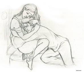 little SPOILER__Auri_Kvothe Sketch