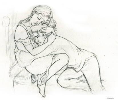 little SPOILER__Auri_Kvothe Sketch by MartAiConan
