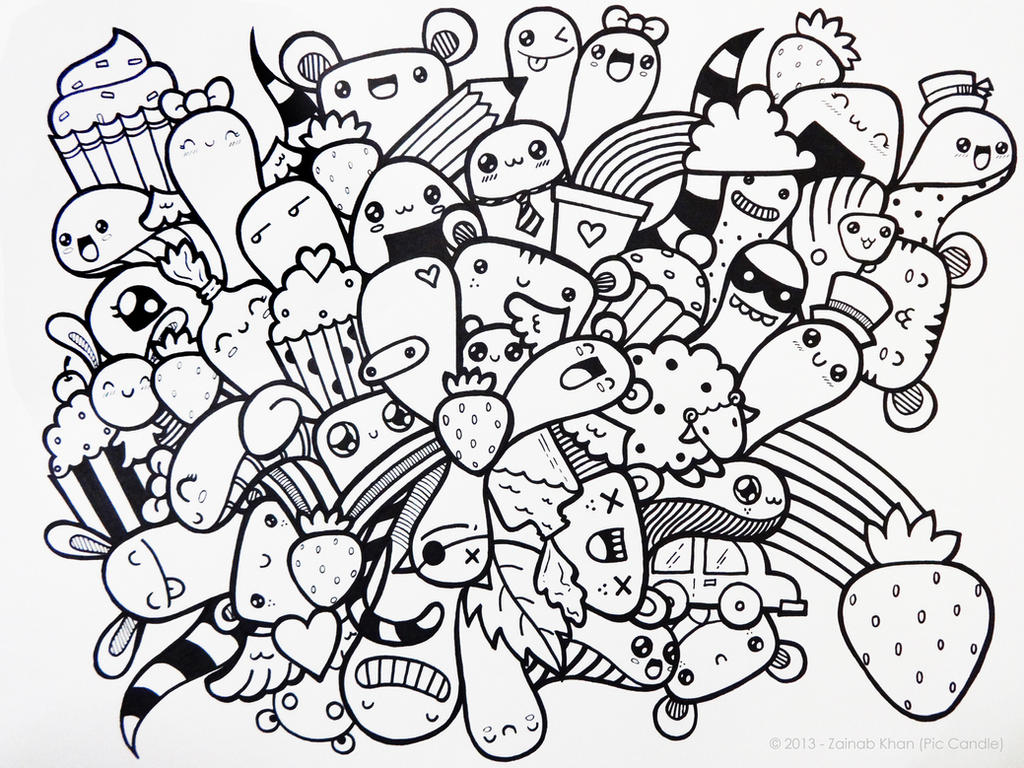 doodle coloring pages - the gallery for cute doodle art designs