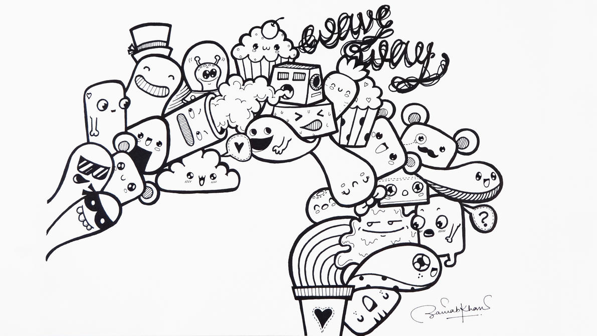Doodle wave way by piccandle on deviantart for Doodle characters
