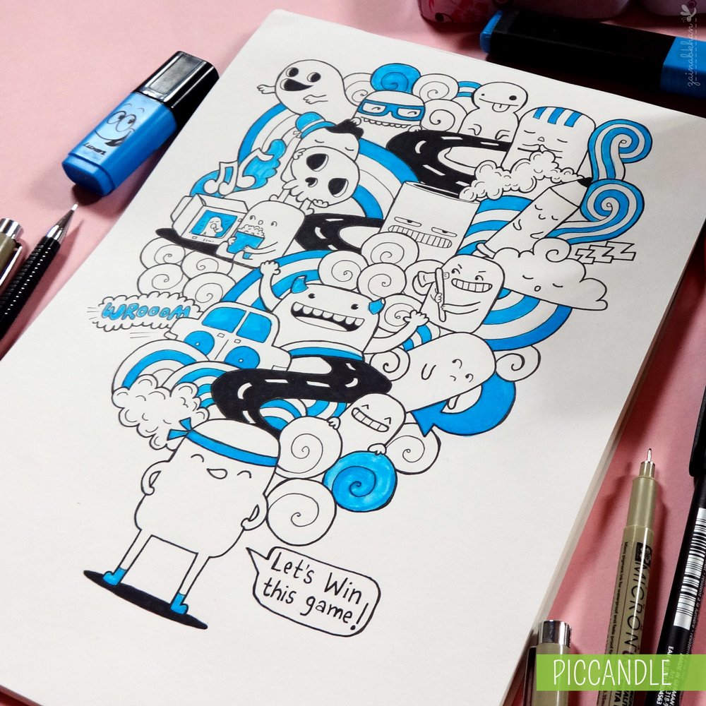 Scribble Drawing Game : Doodle let s win this game by piccandle on deviantart