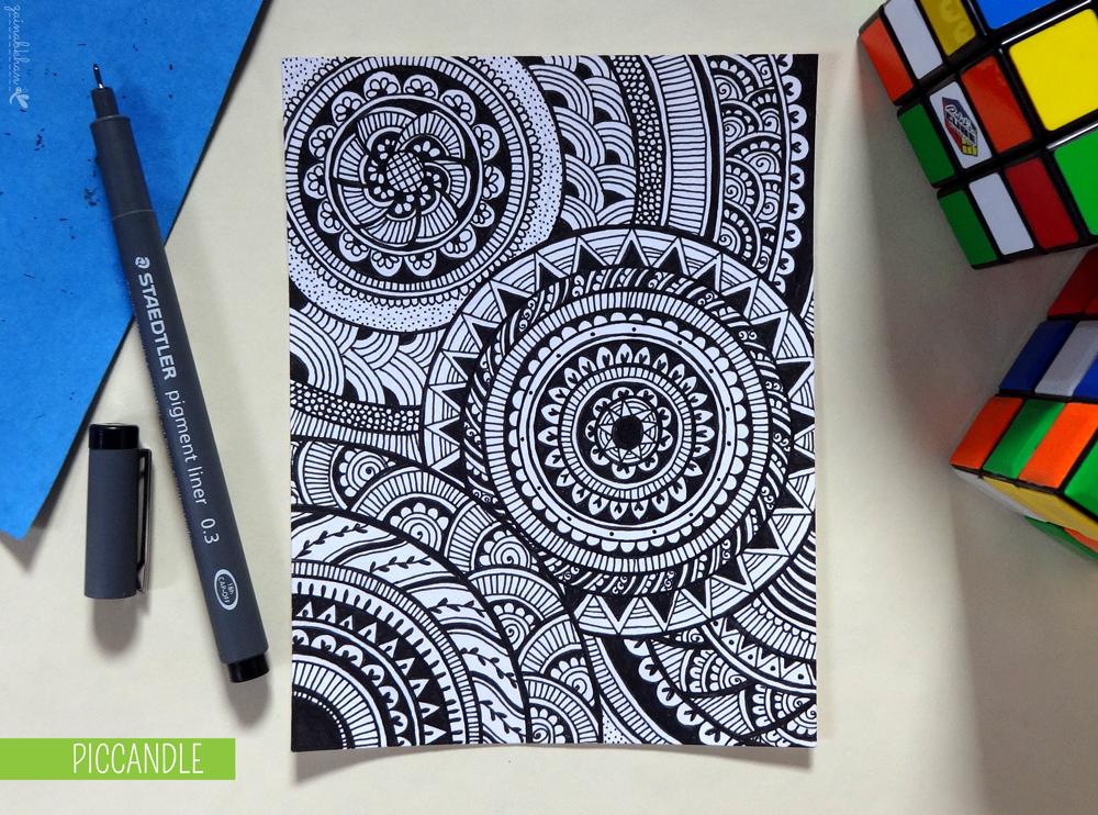 Easy Doodle Art Designs : Doodle circular pattern design by piccandle on deviantart
