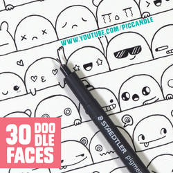30 Cute Faces / Expressions to Doodle