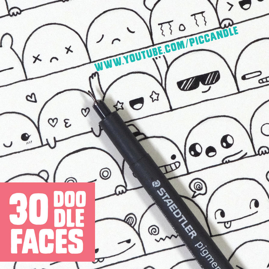 30 cute faces expressions to doodle by piccandle on for Doodle art faces