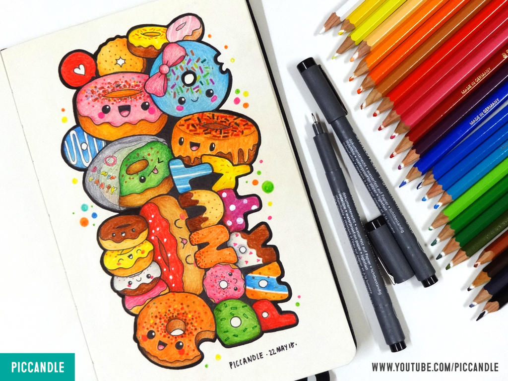 Donut Party | Moleskine Doodle [Video] by PicCandle