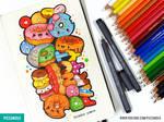 Donut Party | Moleskine Doodle [Video]