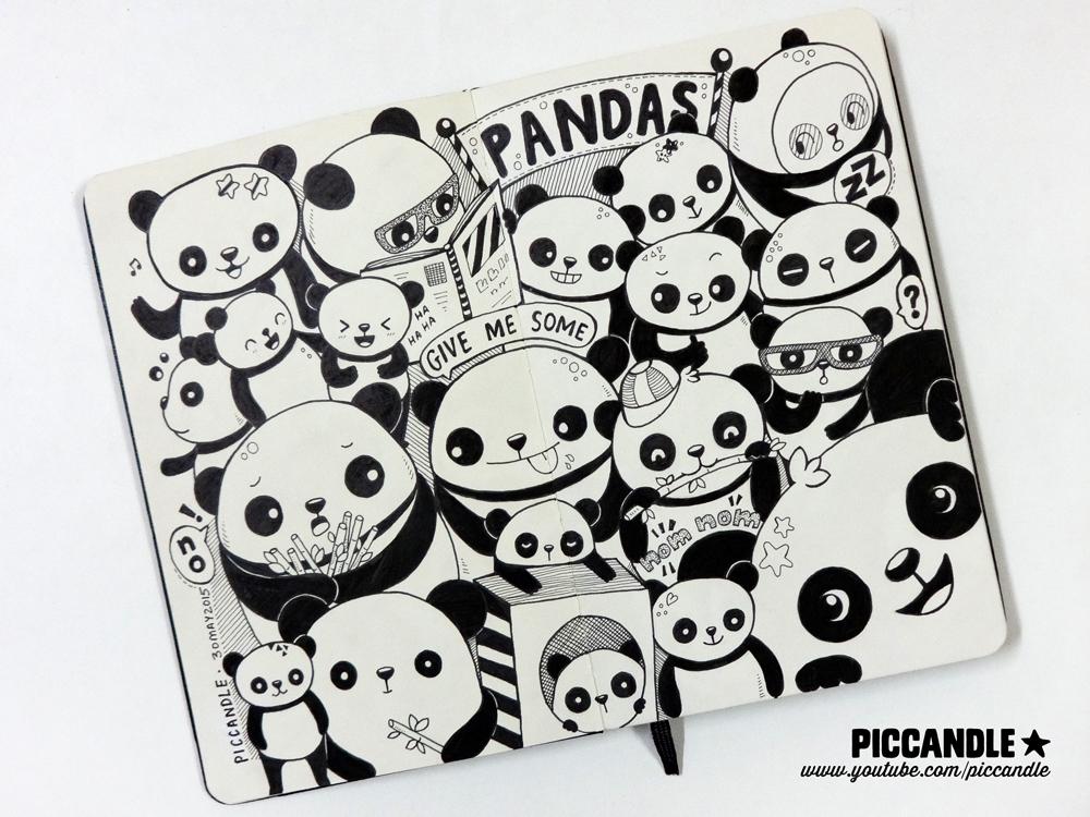 Pandas   Moleskine Doodle [Video] by PicCandle