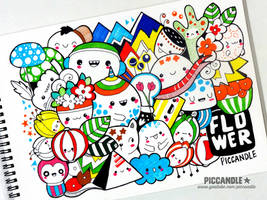 Colored Doodle - Flower [Video] by PicCandle