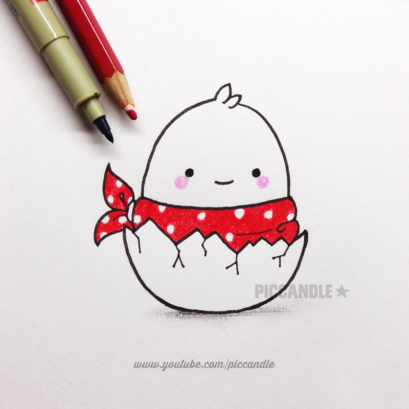 how to draw cute doodle characters