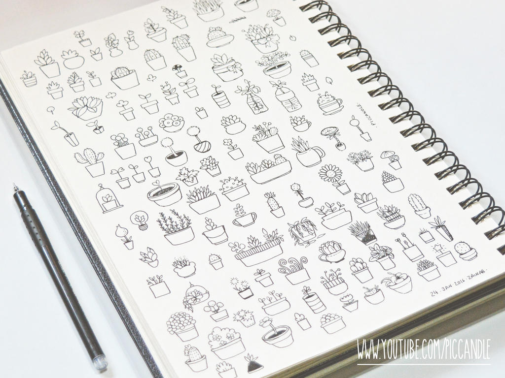 Cute little plants doodle by piccandle on deviantart for Cute little doodles to draw