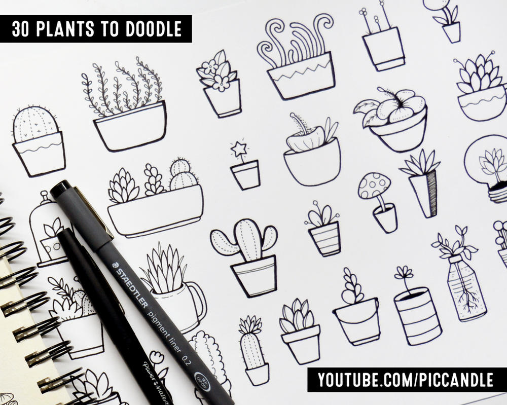 30 Doodle Plants 624801431 on Busy Binder