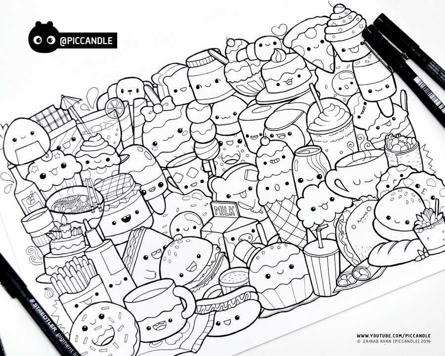 Inktober Day 1 Food Inktober2016 By Piccandle On