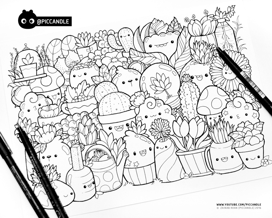 #inktober Day 2 - Plants #inktober2016 by PicCandle