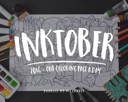 Inktober Week 1 ~ One Coloring Page A Day