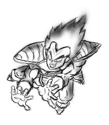 Vegeta Sketch by thelincdesign