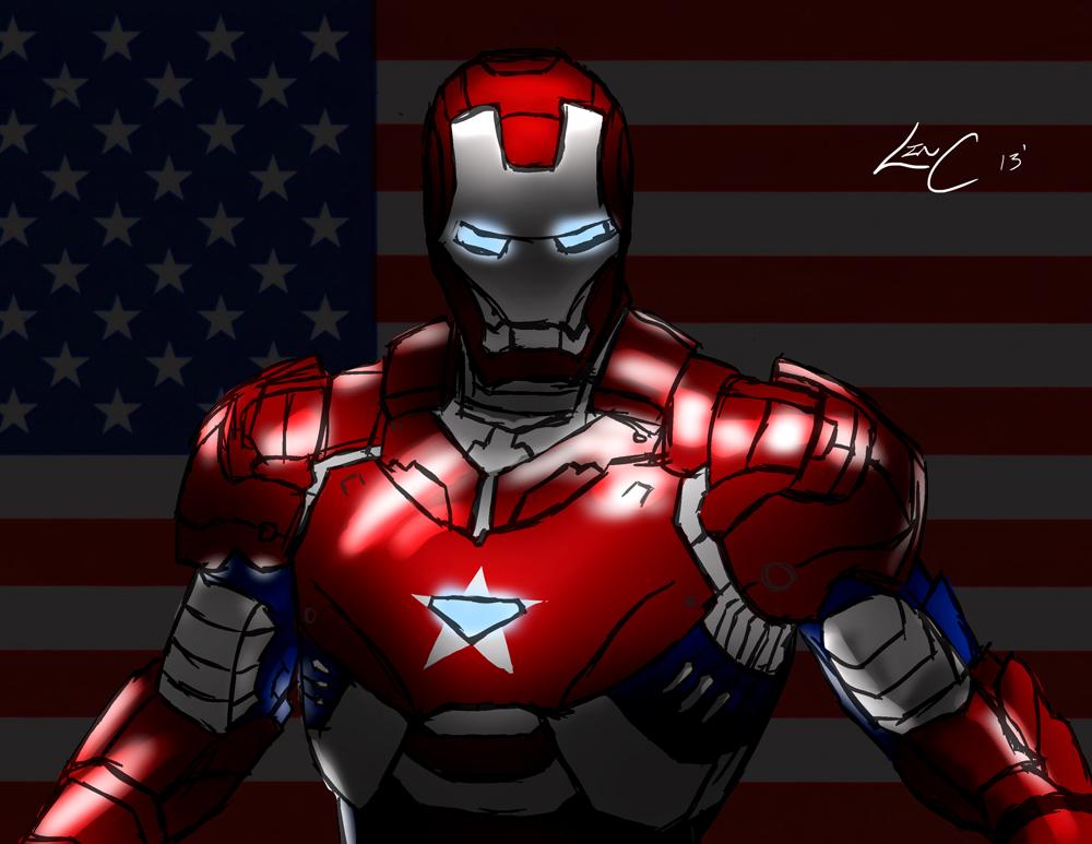 iron patriot wallpaper