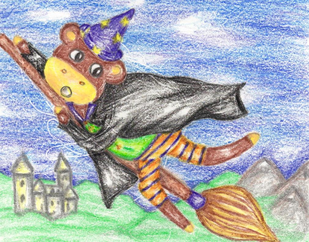 Wizard Monkey by twopixies