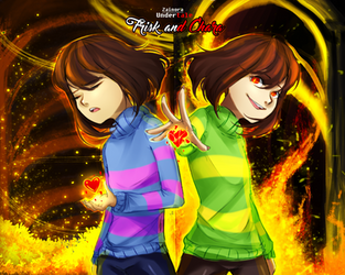 Frisk and Chara by Zainora