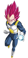 vegeta super saiyajin god by naironkr