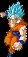goku super saiyajin dios azul by naironkr