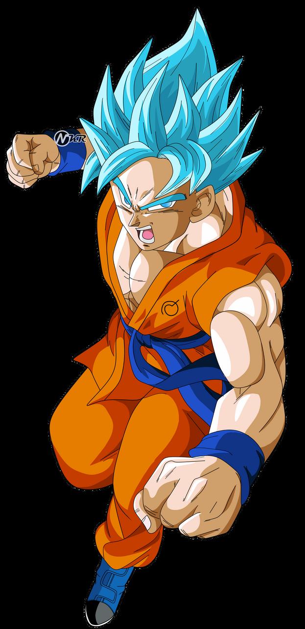 Goku Super Saiyajin Dios Azul By Naironkr On Deviantart