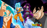 dragon ball super poster goku vs black