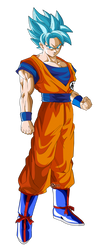 goku super saiyajin blue by naironkr