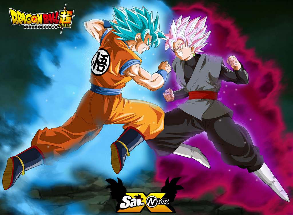 goku vs black posters dragon ball super by naironkr on deviantart. Black Bedroom Furniture Sets. Home Design Ideas