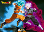 goku vs black posters dragon ball super