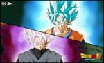 dark goku VS GOKU poster