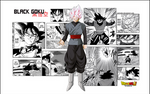 black goku POSTER MANGA 2