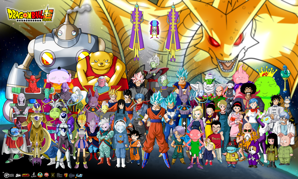 Personajes De Dragon Ball Super Poster By Naironkr On