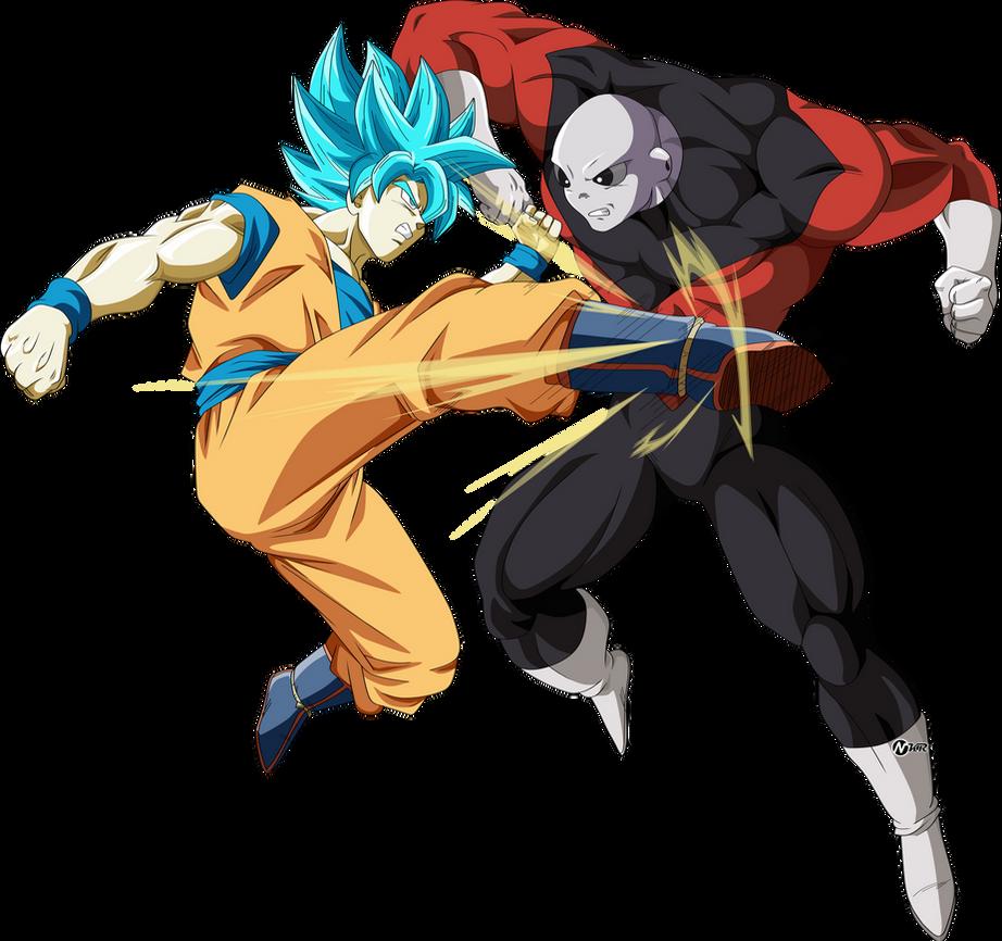 Goku ssj blue vs jiren universo 11 by naironkr
