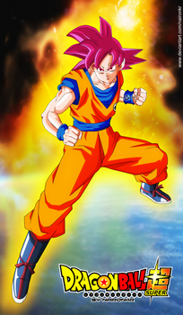 DRAGON BALL SUPER goku ssj god