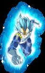 vegeta ssj blue full power by naironkr
