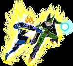 goku ssj full power vs cell perfecto  / comission