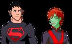 Superboy Y Megan by naironkr