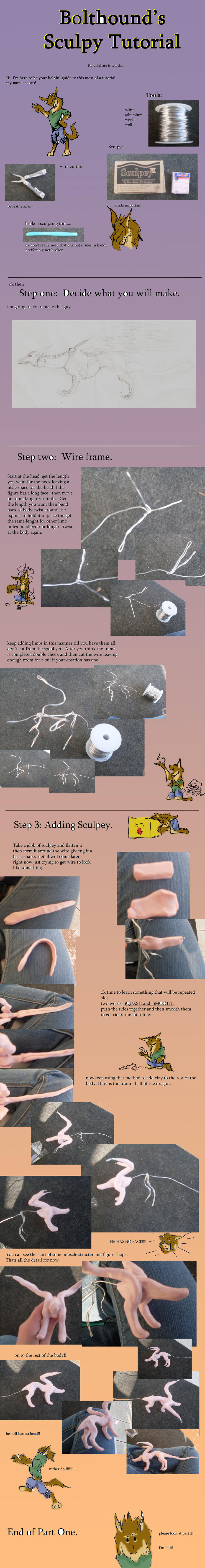 sculpey tutorial part 1 by bolthound