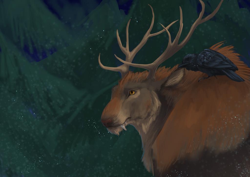 Winter Werebeast by bolthound