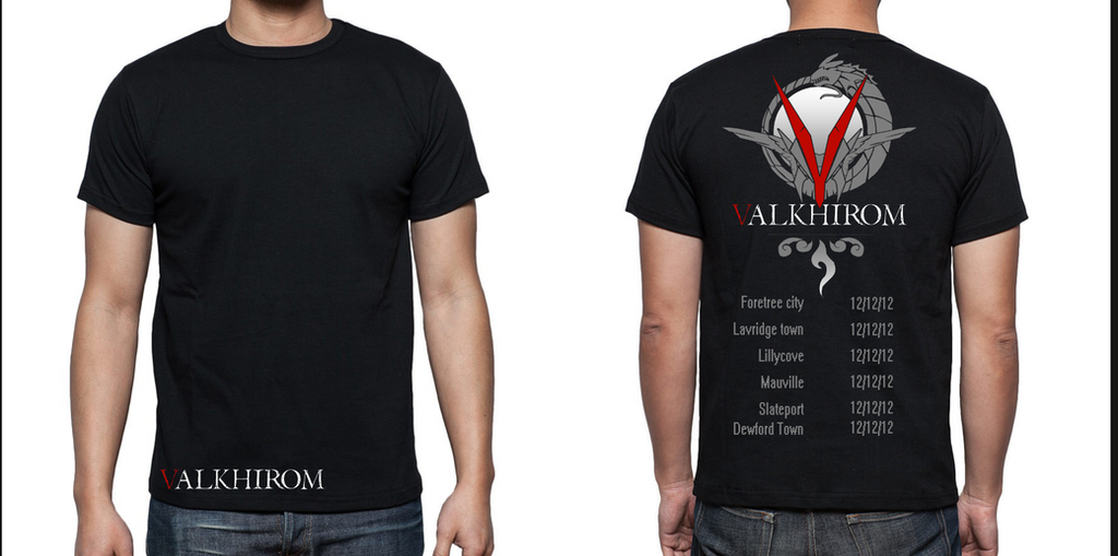 Valkhirom t-shirt design by bolthound