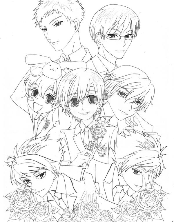 ouran highschool coloring pages - photo#22