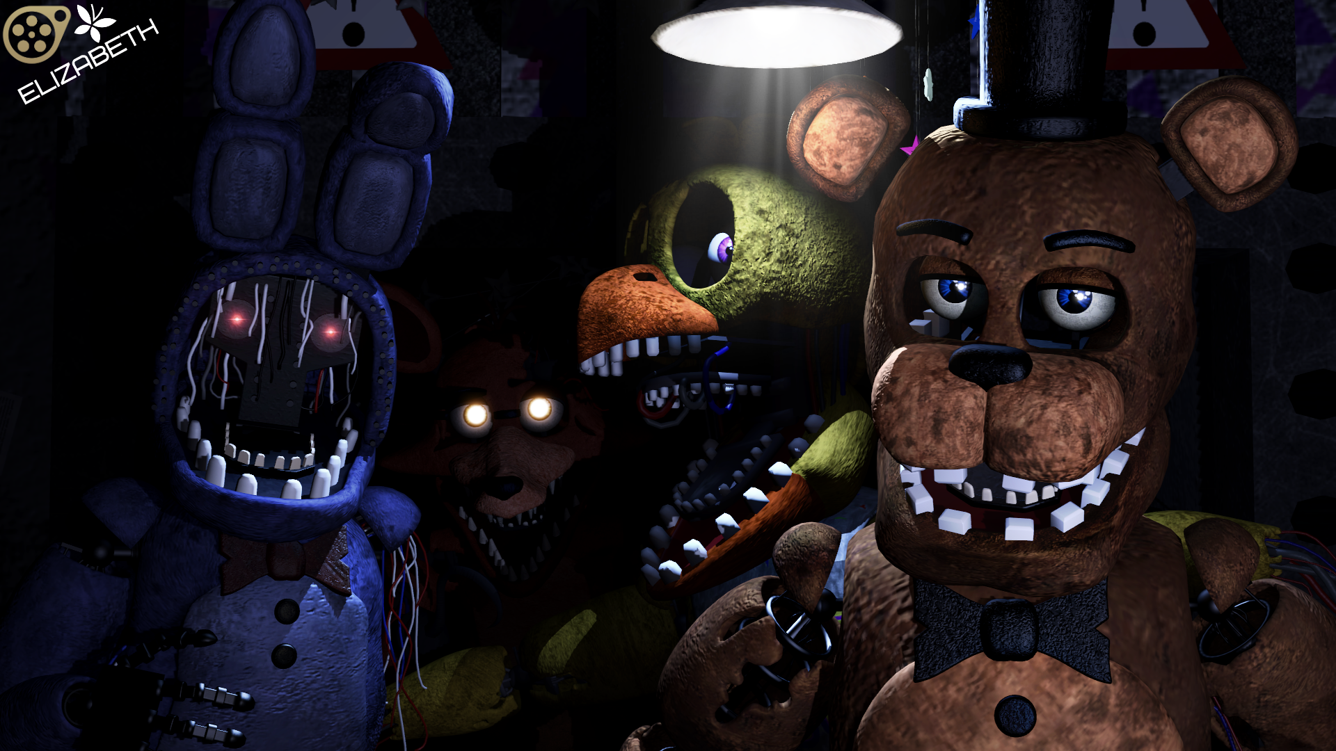 Group of Withered Bonnie Chica