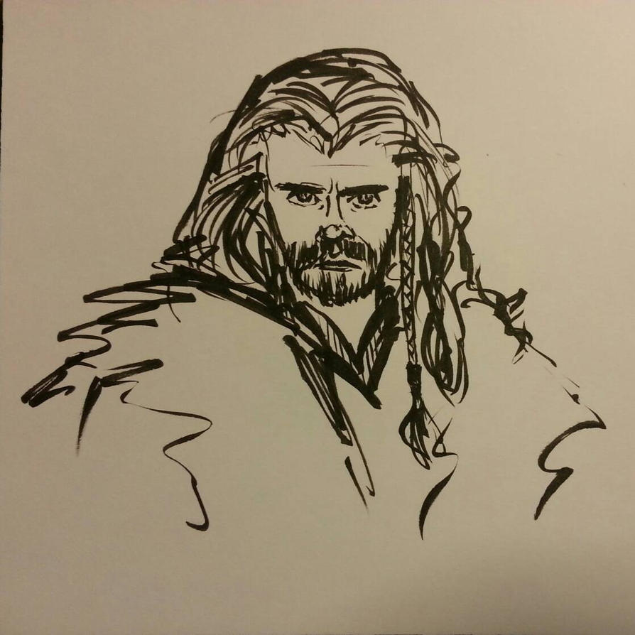 Brushpen Thorin by AlbinoAwesome