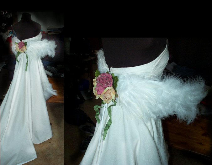 O.o wedding yuna dress by tequilla56