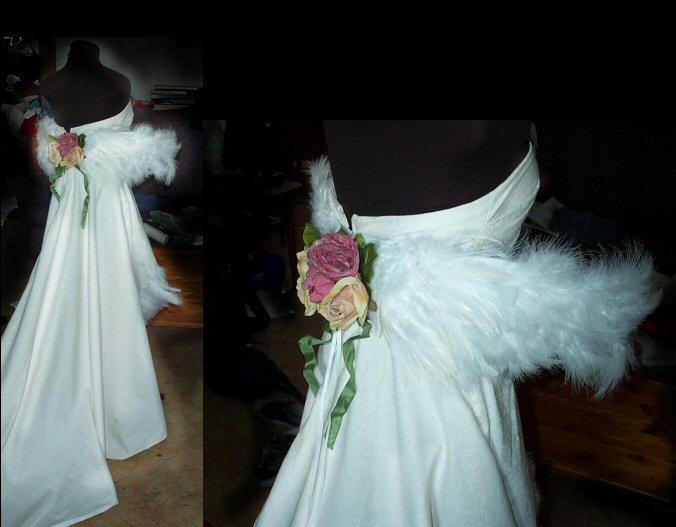O.o wedding yuna dress by tequilla56