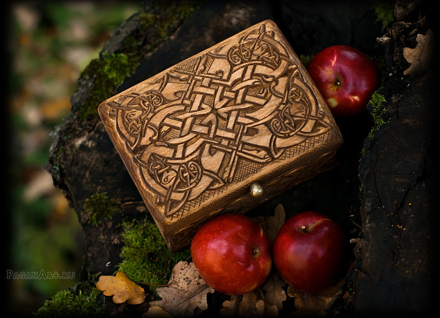 Lid of Celtic box by pagan-art