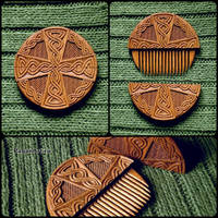 celtic cross hair comb by pagan-art