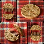 Triskelion Hair comb