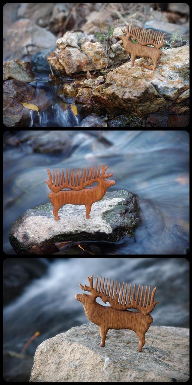 hello, my dear deer  [haircomb] by pagan-art