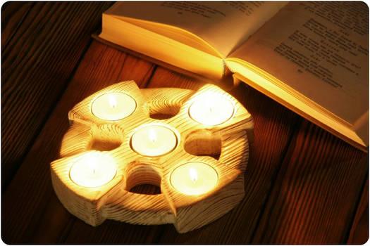 Celtic cross candleholder